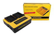 Caricabatteria rapido DUAL LCD Patona per Panasonic Lumix DMC-FP7,DMC-FS16
