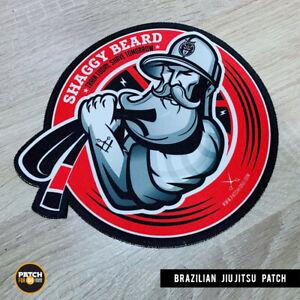 Brazilian Jiu Jitsu Gi Patch Shaggy Beard on Kimono  MMA BJJ  Grappling