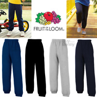Fruit Of The Loom CHILDREN'S SWEAT PANTS JOGGING BOTTOMS SPORTS PE KIDS BOYS NEW