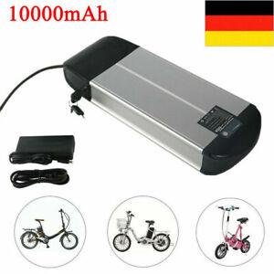 E-Bike Akku 36V 10Ah Li-Lon Batterie mit Ladegerät für Elektrofahrrad Pedelec DE