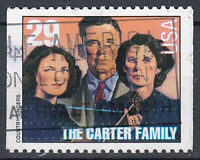 USA Briefmarke gestempelt 29c The Carter Family aus Markenheft / 172