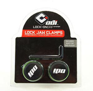 ODI Green Lock Jaw Clamps for Mountain Bike/ATV Grips
