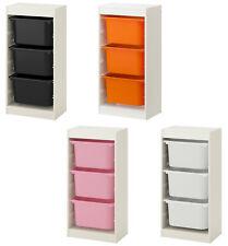 IKEA TROFAST Regal Regalrahmen Aufbewahrung mit Boxen 46x30x94 Orange Rosa IK80