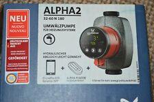 GRUNDFOS ALPHA2 32-60 N 180 - MODEL E - 99271995 - UNUSED !!!!!