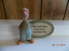 Blossom Bucket Grandfather Figure-The best place to be...