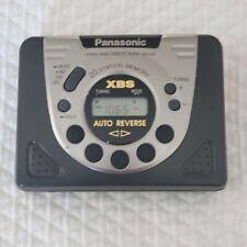 Panasonic RQ-V202 Portable Digital Radio Cassette Player XBS Works Walkman-TEST