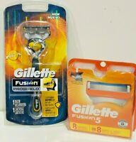 GILLETTE FUSION 5  PACK OF 8+ 1 = 9 CARTRIDGES+ 1 RAZOR