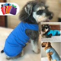 Pet Puppy Dog Summer Clothes Top Blank Tee T-shirts for Large Medium Small Dogs