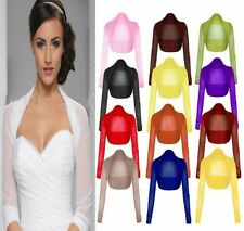 New Womens Ladies  Long Sleeve Sheer Mesh Bolero Shrug Top 8-24 UK Size
