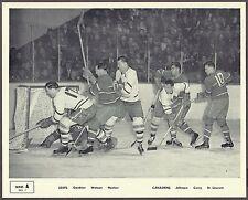 1945-54 Quaker Oats SERIES A, No.1, Leafs vs Habs, Scrum at Goal