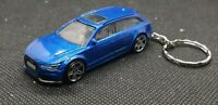 Hot wheels audi rs 6 avant keyring diecast car
