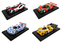 Set of 4 Model Cars 24h Le Mans - 1:43 Spark Diecast Racing Car LM32