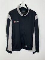 Men's LOTTO 'SC Lehr' #24 Track Jacket Tracksuit Top Black UK Size 2XL 2X XXL