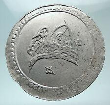 1789-1807AD TURKEY Sultan Selim III Ottoman Empire Silver 2 Paistres Coin i80870