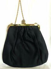 Vintage 60's Bobbie Jerome Black Evening Shoulder Bag - Excellent Condition