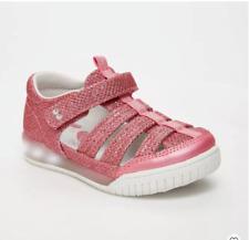 Stride Rite Surprize Val Toddler Girls Pink Light-Up Fisherman Sandals - Size 4