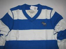 Abercrombie & Fitch Sentinel Range Shirt Royal/Wht Size Large NEW! Muscle Fit