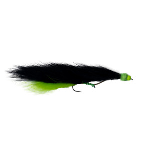 Snake lures black and lime green bead head x3 Barbless hook : Dragonflies