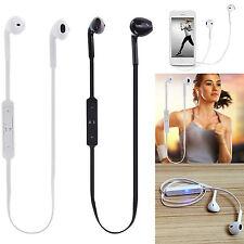 Sport In Ear Bluetooth Headset Kopfhörer S6 Wireless schwarz weiss