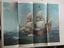 Mayflower Ii Poster Supplement National Geographic November 1957 Vintage