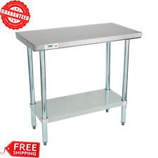 "18""x36"" Stainless Steel Work Prep Kitchen Table Commercial Restaurant 18 Gauge"