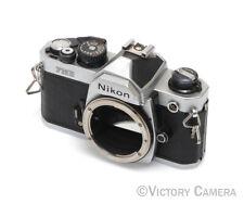 Nikon FM-2n Chrome Camera Body -Dented Prism New Seals- (023-3-22)