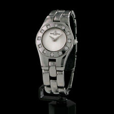Baume & Mercier Linea Bombee Medium Armbanduhr Damenuhr Edelstahl mit Diamanten