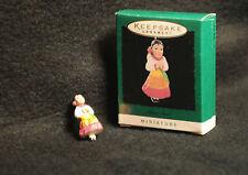 1996 Hallmark miniature Joyous Angel 'Feliz Navidad' MINT in box, colorful dress