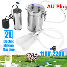 2L Electric Milking Machine Vacuum Pump For Farm Cow Sheep Goat Milking AU Plug