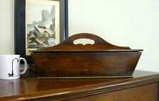 More details for antique oak butlers housekeepers knife cutlery box c1810