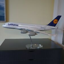 Huge 1/100 Lufthansa Airlines Airbus A380 Airplane Model Acrylic & Chrome Stand