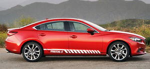 Racing Graphic Stripe Car Side Vinyl Decal Sticker for Mazda 6 2014 - 2018