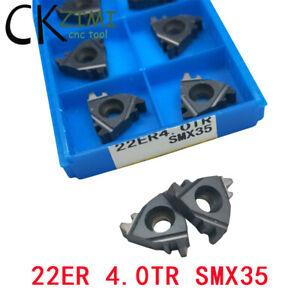 "10Pc 1/2"" 22ER 4.0TR SMX35 4.0mm Pitch CNC External Threading Insert,For SER/SNL"