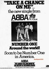 "Classic Abba ""Take A Chance On Me' Song Release Music Industry Promo Ad Reprint"