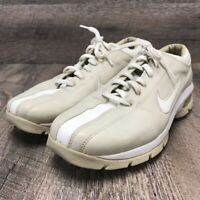 Nike Women's Giddy Up Beige Bicycle Toe Golf Shoe Spike Spiked 7