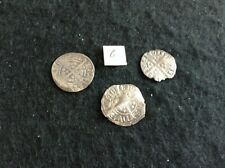 More details for three hammered pennies