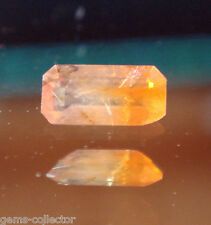 *Très rare Creedite taillée 0.07 ct taille émeraude 3.9 x 1.8 mm Mexique *