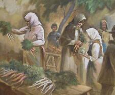 Ferenc Pataky (1850-1910) aquarelle scène de marché p224