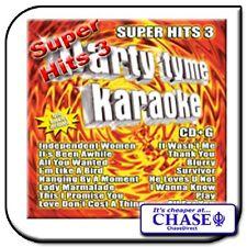 PARTY TYME KARAOKE CD CDG CD+G DISC BACKING TRACKS SONG SUPER HITS 3 POP