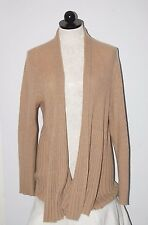 Charter Club Luxury 100% Cashmere Long Brown Ribbed Cardigan Sweater XL