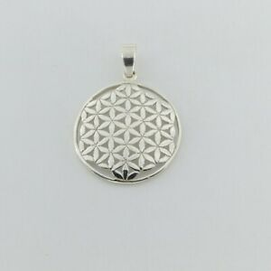 925 SILVER STERLING - Flower of Life PENDANT - Silver Jewelry #p128