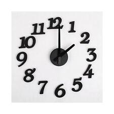 DIY Design Art Foam Sponge Digit Wall Clock L6