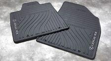2010-2012 Lexus RX350 All Weather, BLACK Rubber Floor Mats,Genuine, OEM, Factory
