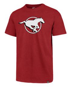 Men's Calgary Stampeders Imprint Primary Big Logo CFL Football Red T Shirt '47