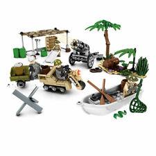 4pcs/set Military Battle Equipment Building Blocks Bricks Figures Models Toys