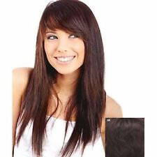 USJF10289 long dark brown natural straight fashion hair wig wigs for men