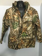Frogg Toggs All Purpose Camo Jacket Real Tree Waterproof Wind Resistant Med Nwot