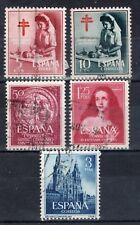 ESPAÑA 1953-1954 EDIFIL 1121, 1122, 1126, 1129 Y 1131. USADOS
