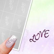 Schablonen für Airbrush und Nailart TX089  Liebe Love Hochzeit Text Wörter 80x