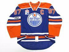 McDAVID EDMONTON OILERS HOME NHL 100th ANNIVERSARY REEBOK EDGE 2.0 7287 JERSEY